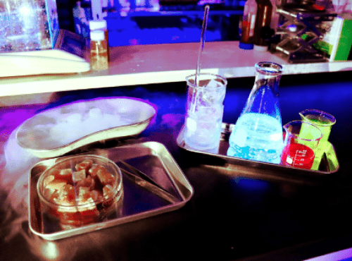 Science Cocktail/prosciutto/Cryo Menu